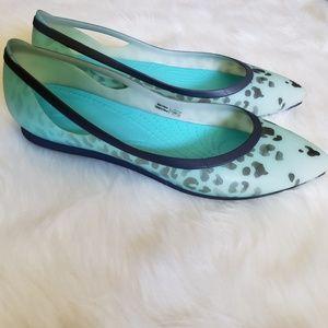 4c028bc8aa09 CROCS Shoes | Rio Leopard Fade Flat In Pool Size 10 | Poshmark